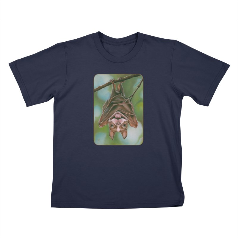 The rarely seen Boston Pteropus Kids T-Shirt by Ken Keirns