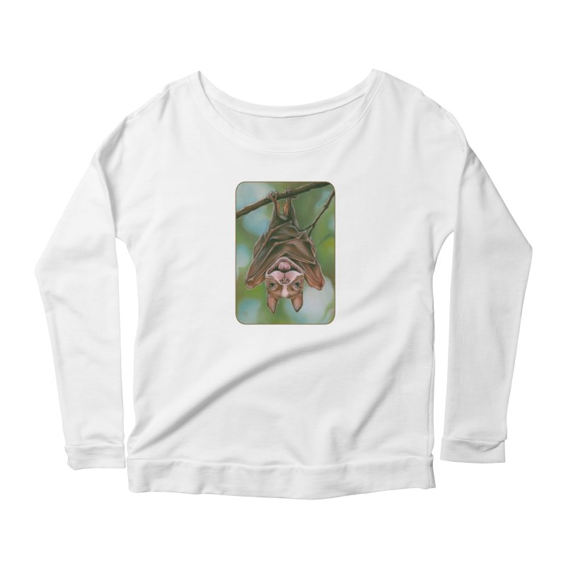 The rarely seen Boston Pteropus Women's Scoop Neck Longsleeve T-Shirt by Ken Keirns