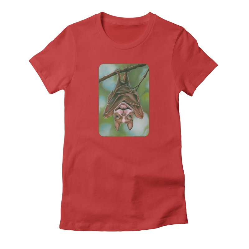 The rarely seen Boston Pteropus Women's Fitted T-Shirt by Ken Keirns