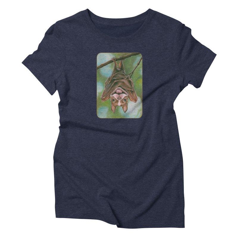 The rarely seen Boston Pteropus Women's Triblend T-Shirt by Ken Keirns