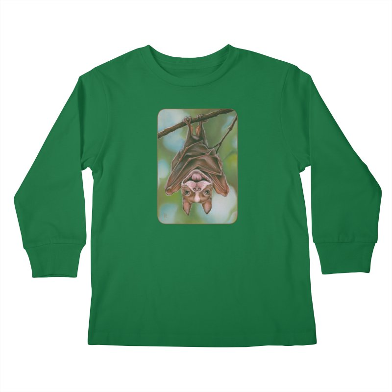The rarely seen Boston Pteropus Kids Longsleeve T-Shirt by Ken Keirns