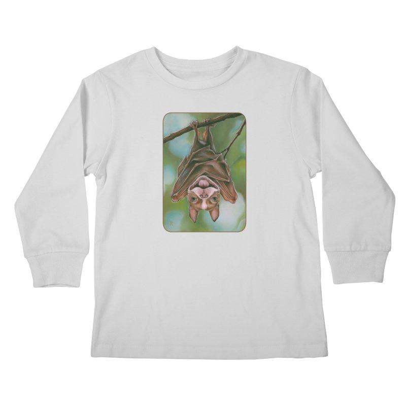 The rarely seen Boston Pteropus Kids Longsleeve T-Shirt by Ken Keirns