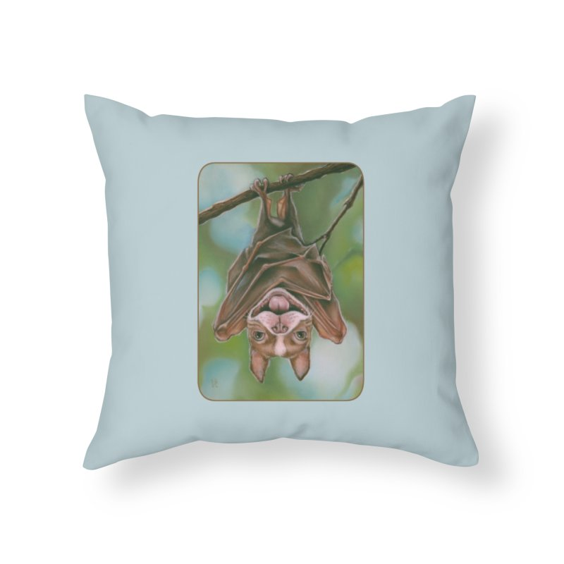 The rarely seen Boston Pteropus Home Throw Pillow by Ken Keirns
