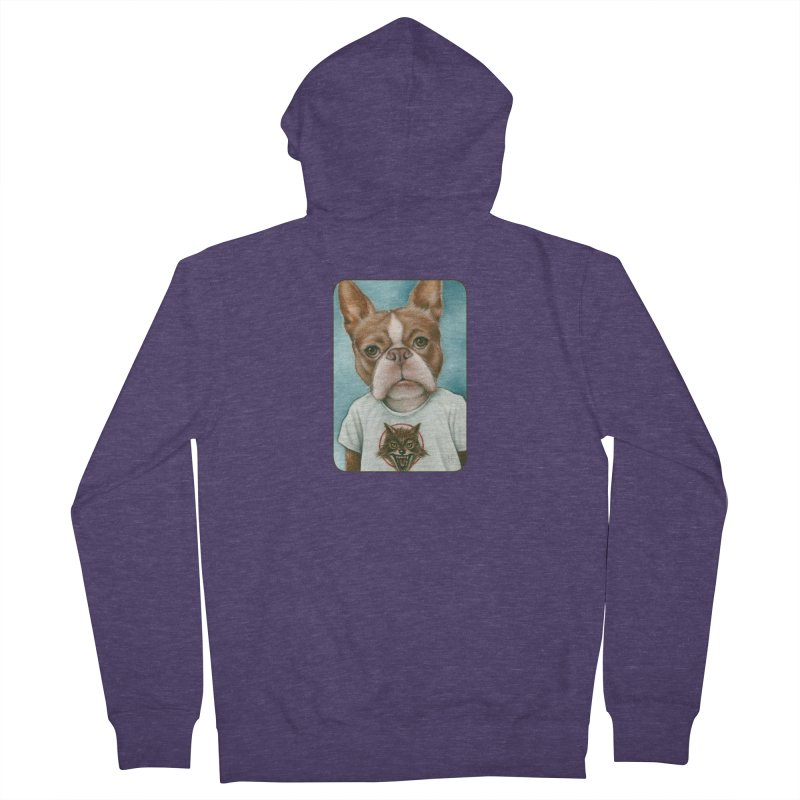 Sheep In Wolf's Clothing Men's French Terry Zip-Up Hoody by Ken Keirns
