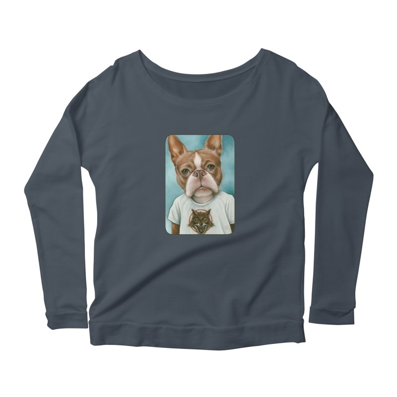 Sheep In Wolf's Clothing Women's Scoop Neck Longsleeve T-Shirt by Ken Keirns