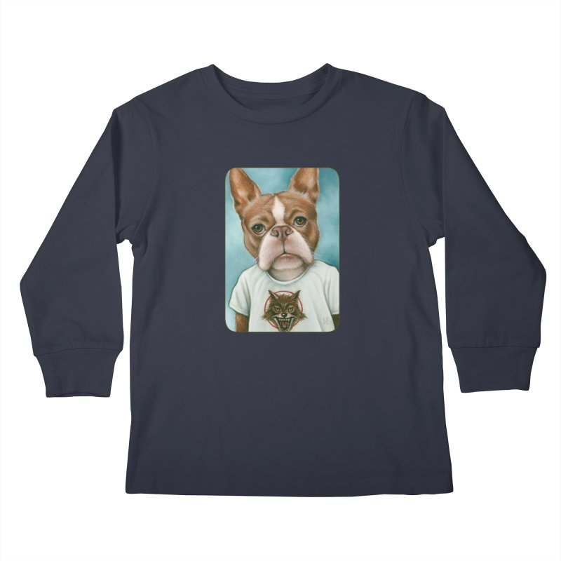 Sheep In Wolf's Clothing Kids Longsleeve T-Shirt by Ken Keirns