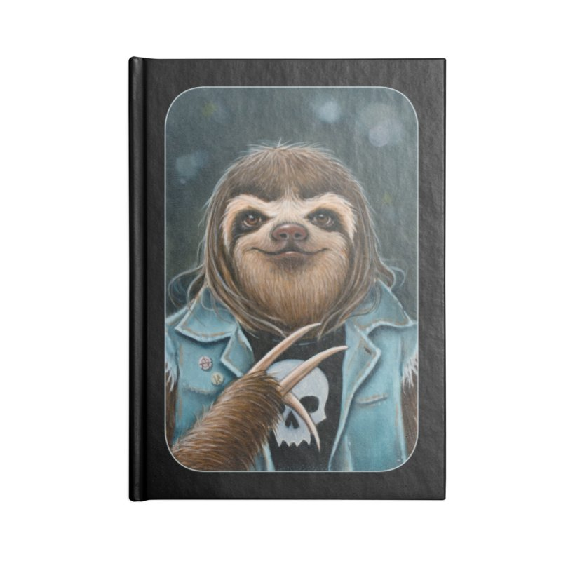 Metal Sloth Accessories Lined Journal Notebook by Ken Keirns