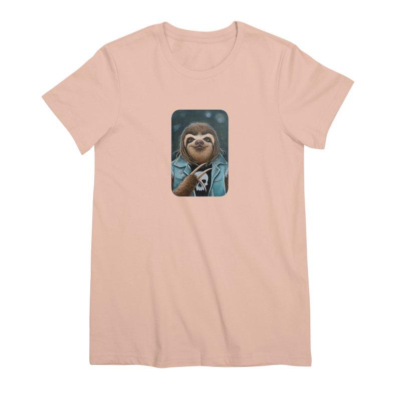 Metal Sloth Women's Premium T-Shirt by Ken Keirns