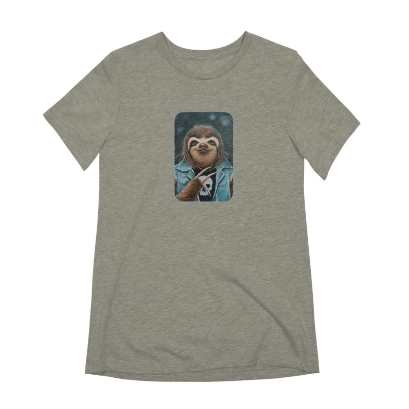 Metal Sloth Women's Extra Soft T-Shirt by Ken Keirns
