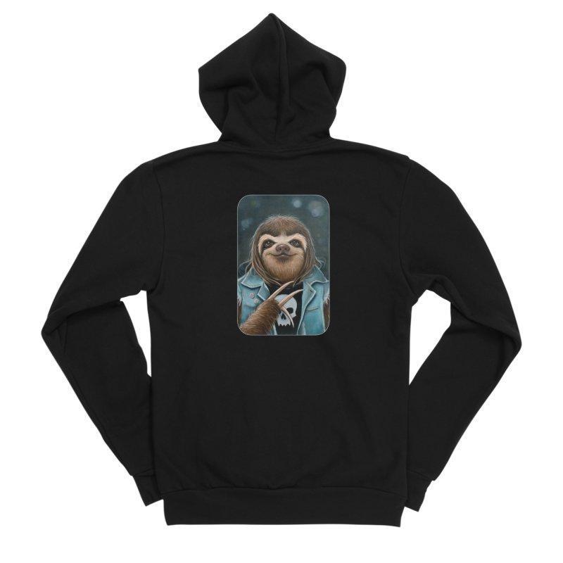 Metal Sloth Women's Sponge Fleece Zip-Up Hoody by Ken Keirns