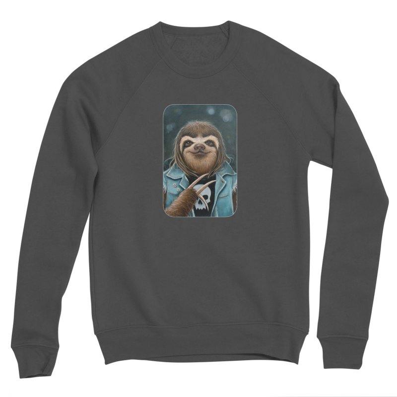 Metal Sloth Men's Sponge Fleece Sweatshirt by Ken Keirns