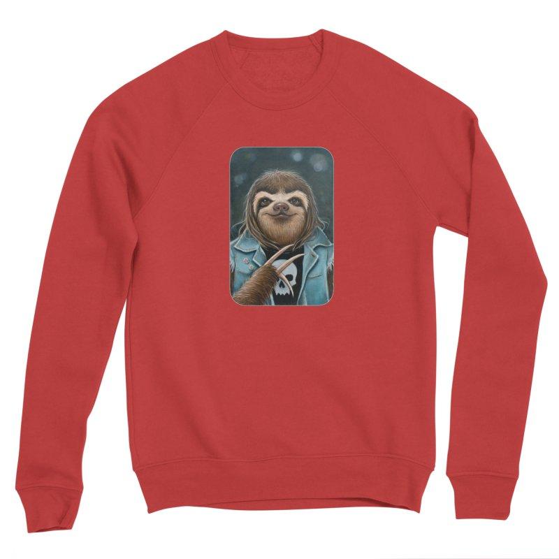 Metal Sloth Women's Sponge Fleece Sweatshirt by Ken Keirns
