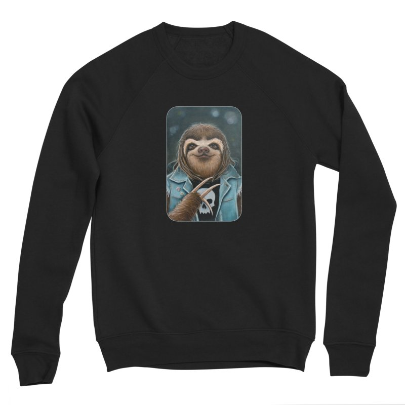 Metal Sloth Women's Sponge Fleece Sweatshirt by Ken Keirns