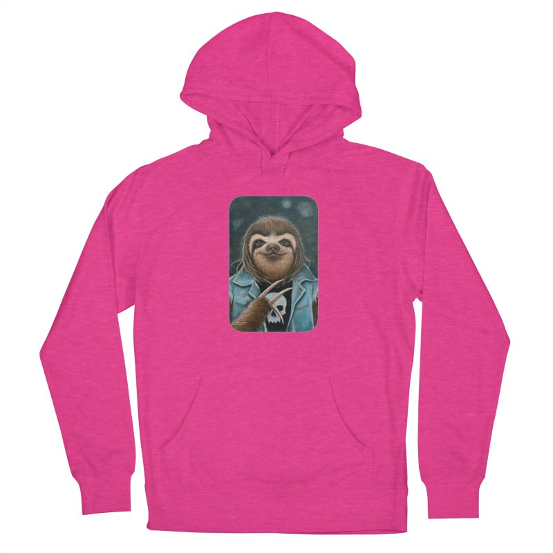 Metal Sloth Women's French Terry Pullover Hoody by Ken Keirns