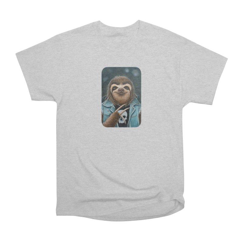 Metal Sloth Men's Heavyweight T-Shirt by Ken Keirns