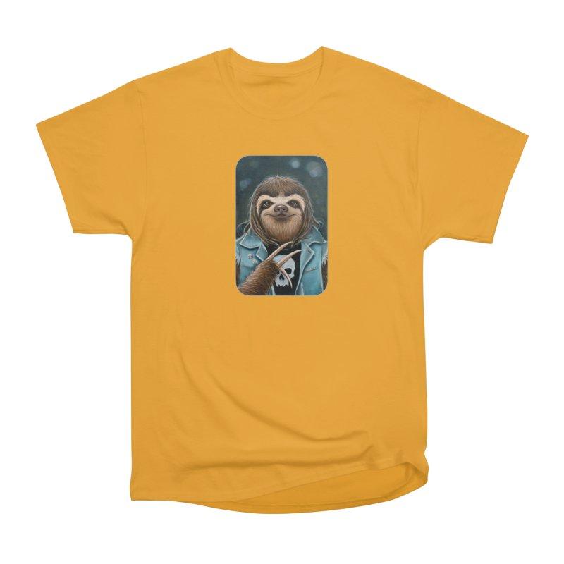 Metal Sloth Women's Heavyweight Unisex T-Shirt by Ken Keirns