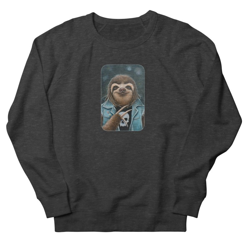 Metal Sloth Men's French Terry Sweatshirt by Ken Keirns