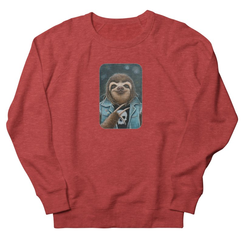 Metal Sloth Men's French Terry Sweatshirt by Ken Keirns