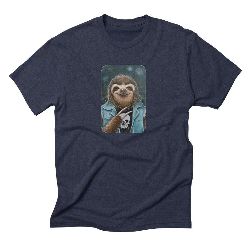 Metal Sloth Men's Triblend T-Shirt by Ken Keirns