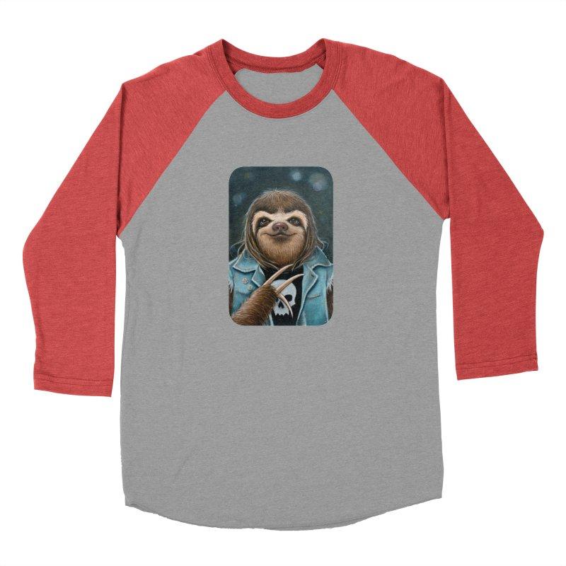 Metal Sloth Women's Baseball Triblend Longsleeve T-Shirt by Ken Keirns