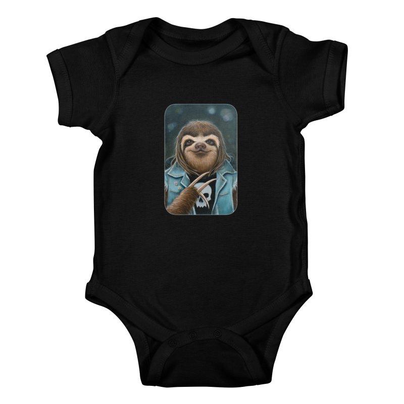 Metal Sloth Kids Baby Bodysuit by Ken Keirns