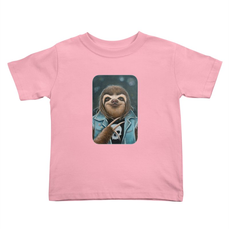 Metal Sloth Kids Toddler T-Shirt by Ken Keirns
