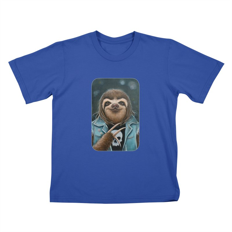 Metal Sloth Kids T-Shirt by Ken Keirns