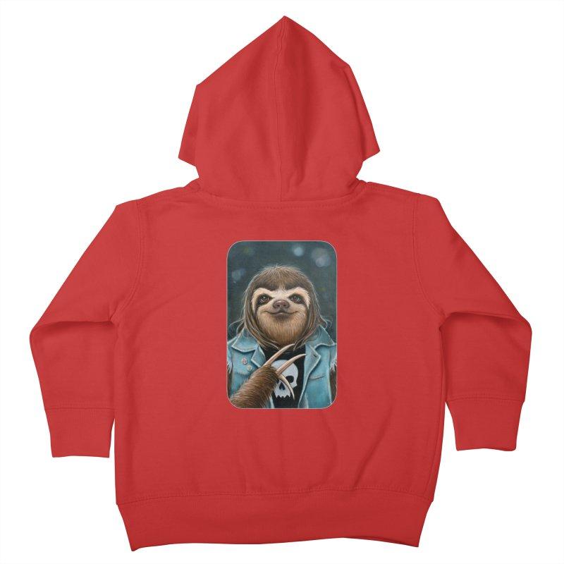 Metal Sloth Kids Toddler Zip-Up Hoody by Ken Keirns