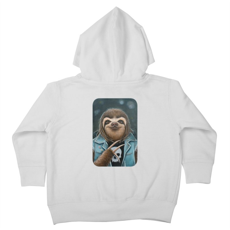 Metal Sloth Kids Toddler Zip-Up Hoody by Ken Keirns