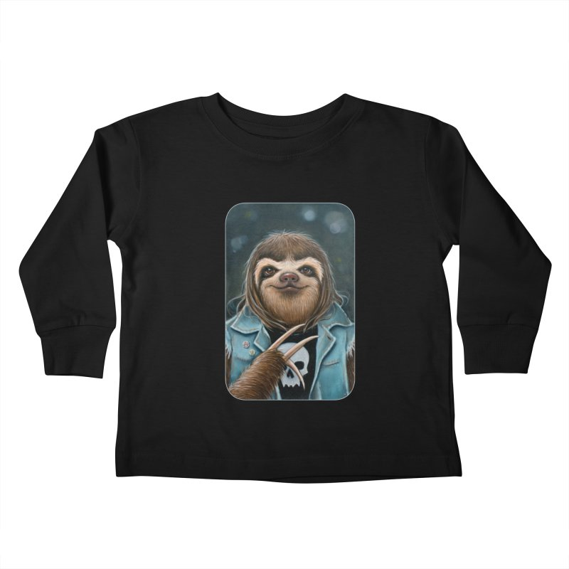 Metal Sloth Kids Toddler Longsleeve T-Shirt by Ken Keirns