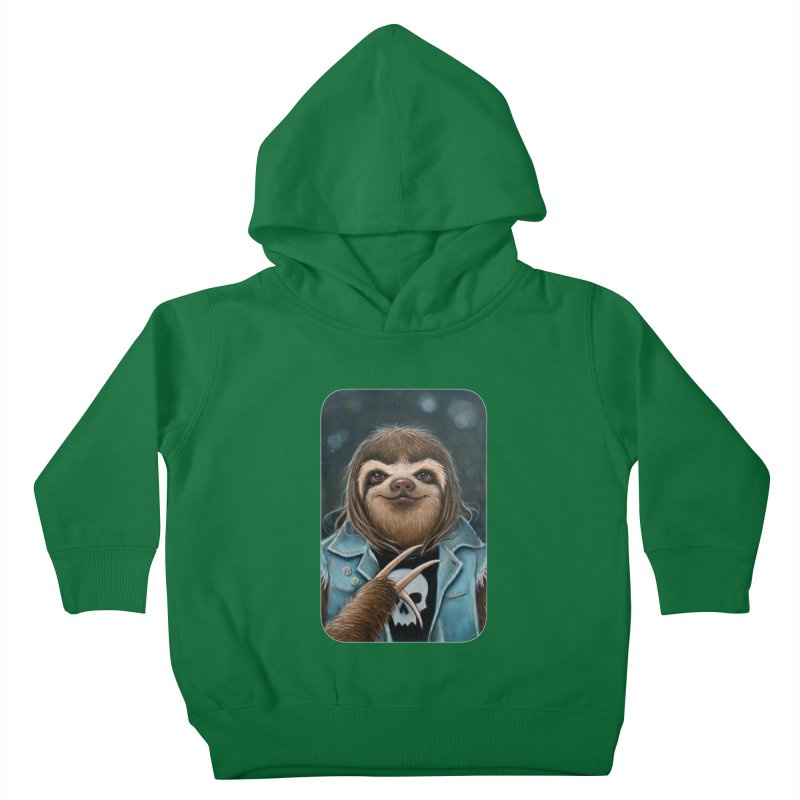 Metal Sloth Kids Toddler Pullover Hoody by Ken Keirns