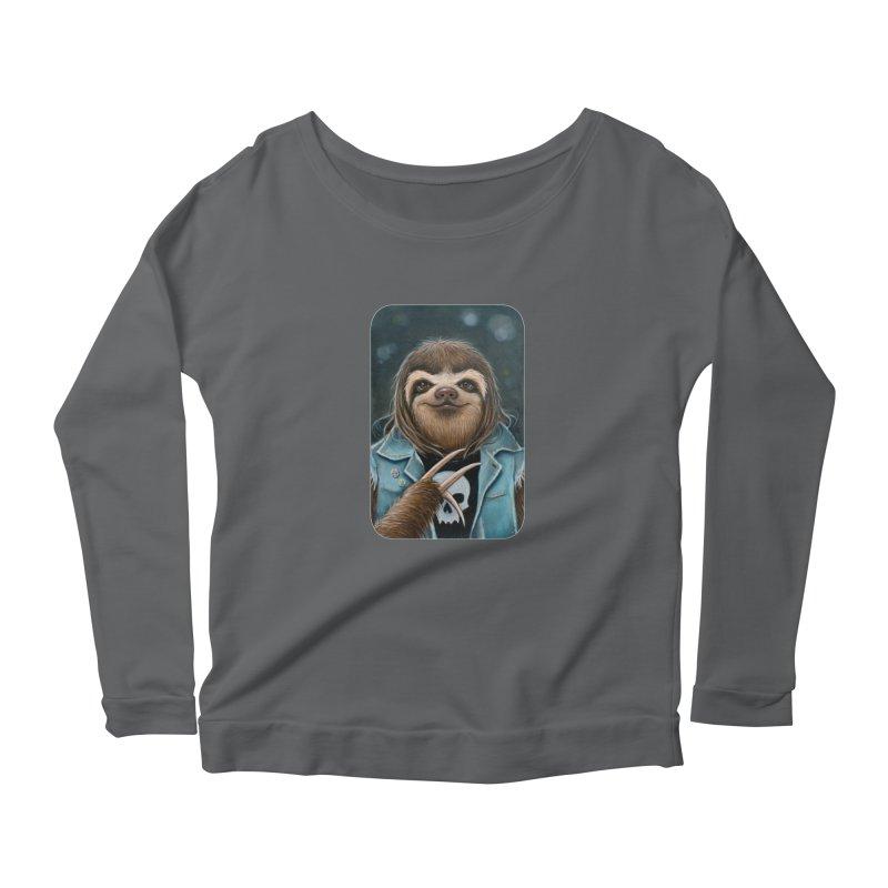 Metal Sloth Women's Longsleeve T-Shirt by Ken Keirns