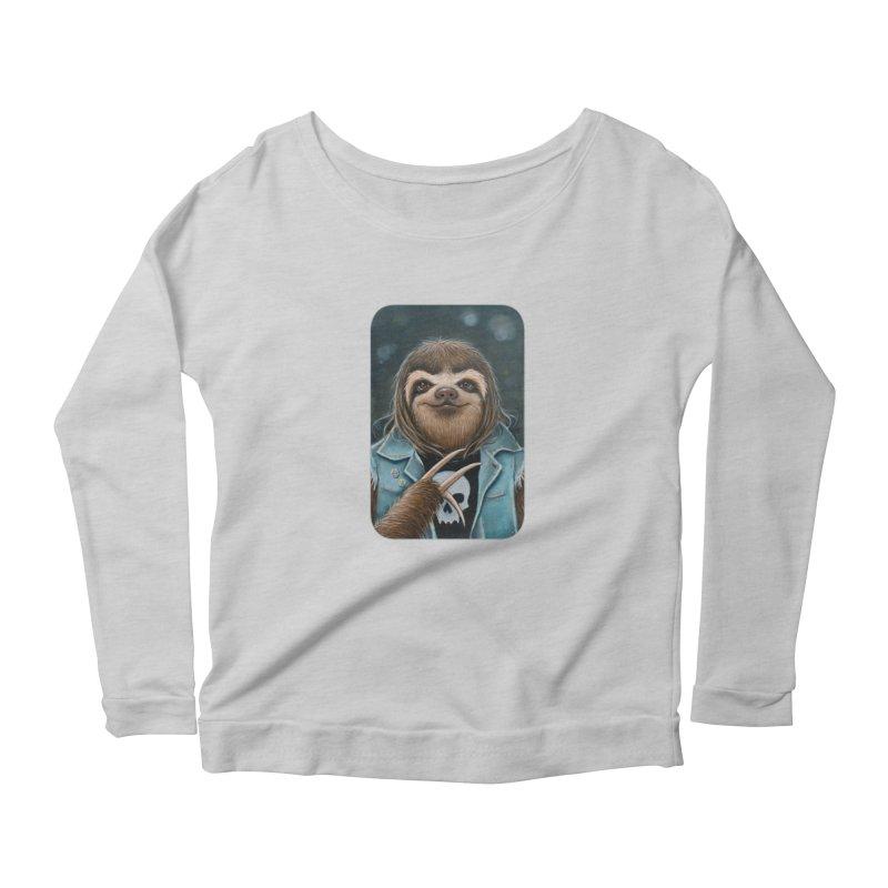 Metal Sloth Women's Scoop Neck Longsleeve T-Shirt by Ken Keirns