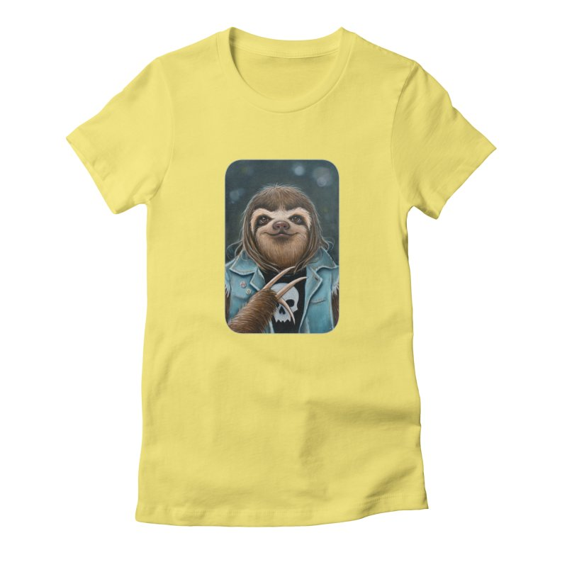 Metal Sloth Women's Fitted T-Shirt by Ken Keirns