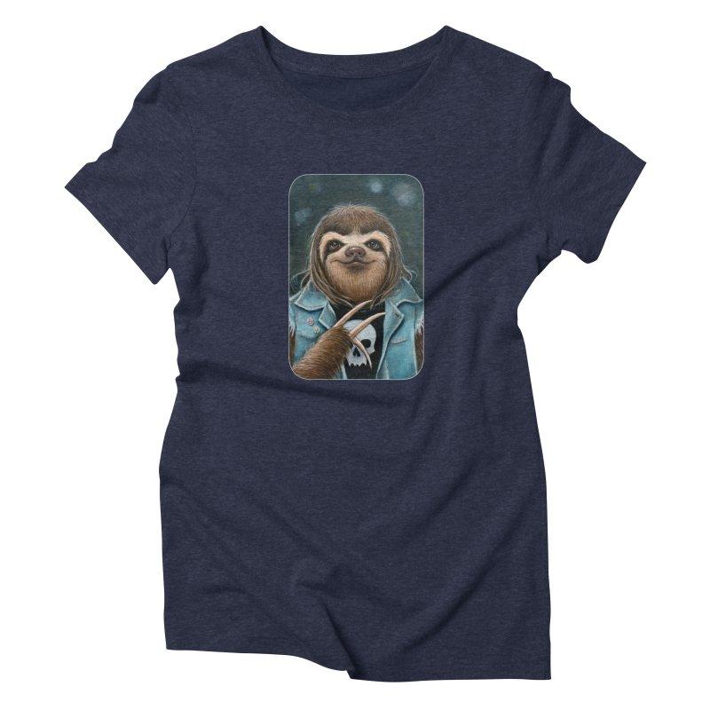 Metal Sloth Women's Triblend T-Shirt by Ken Keirns