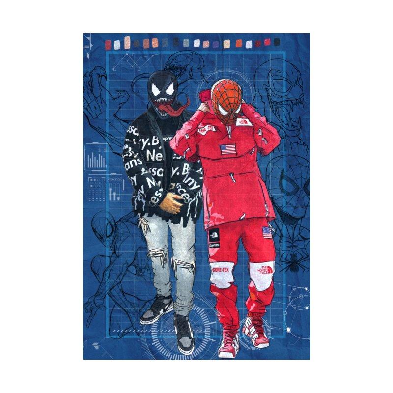 Spiderman x Venom x Supreme x The North Face Home Fine Art Print by kenr0ck's Shop