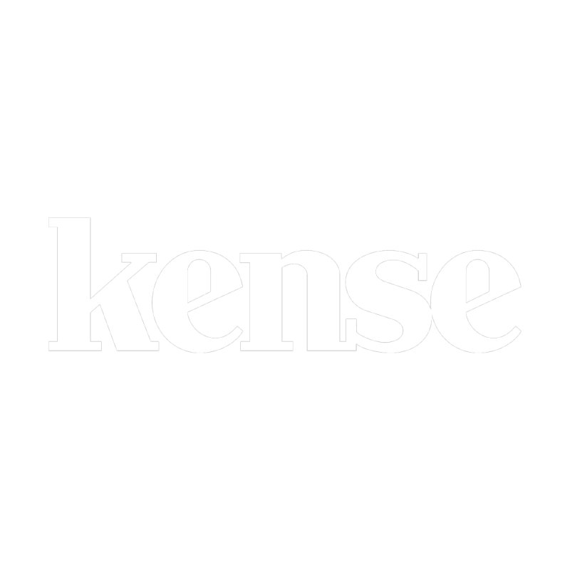 kense Original Logo (White) Men's T-Shirt by kense's Shop