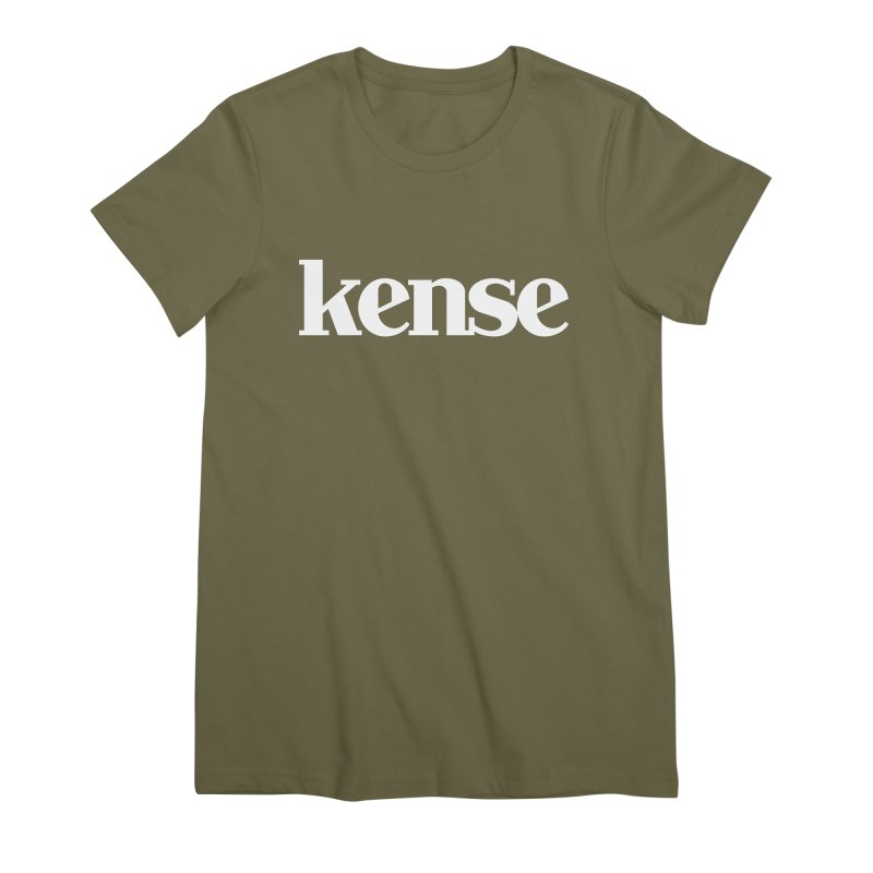 kense Original Logo (White) Women's Premium T-Shirt by kense's Shop