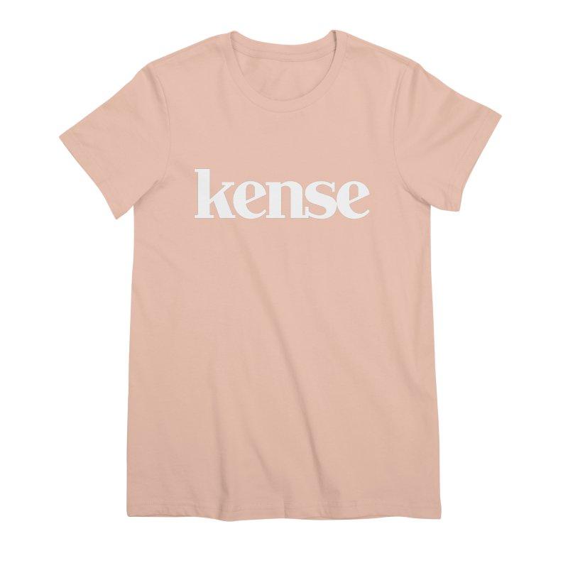 kense Original Logo (White) Women's Premium T-Shirt by kense's Shop