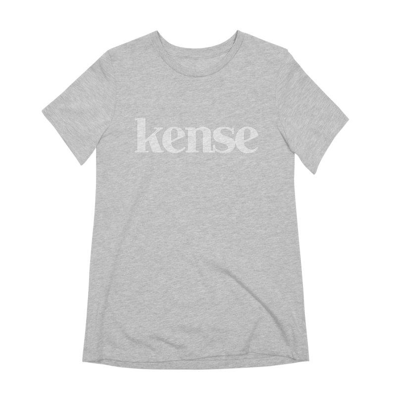 kense Original Logo (White) Women's Extra Soft T-Shirt by kense's Shop