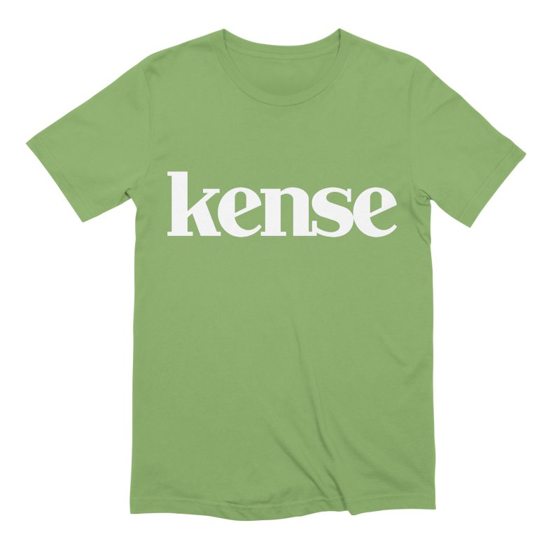 kense Original Logo (White) Men's Extra Soft T-Shirt by kense's Shop