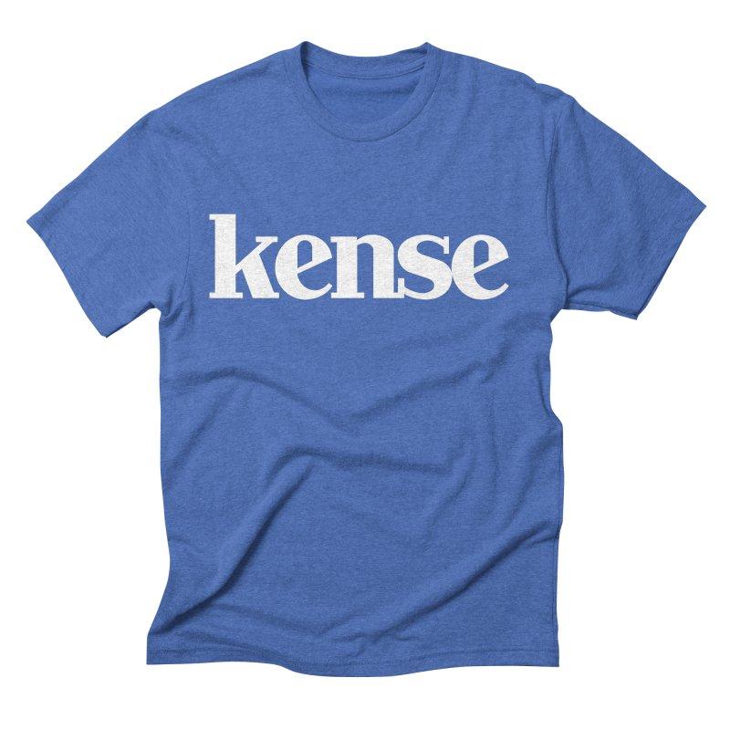 kense Original Logo (White) Men's T-Shirt by kense's Shop