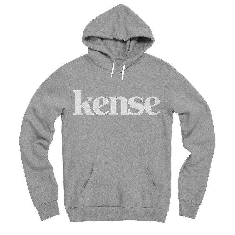 kense Original Logo (White) Men's Sponge Fleece Pullover Hoody by kense's Shop