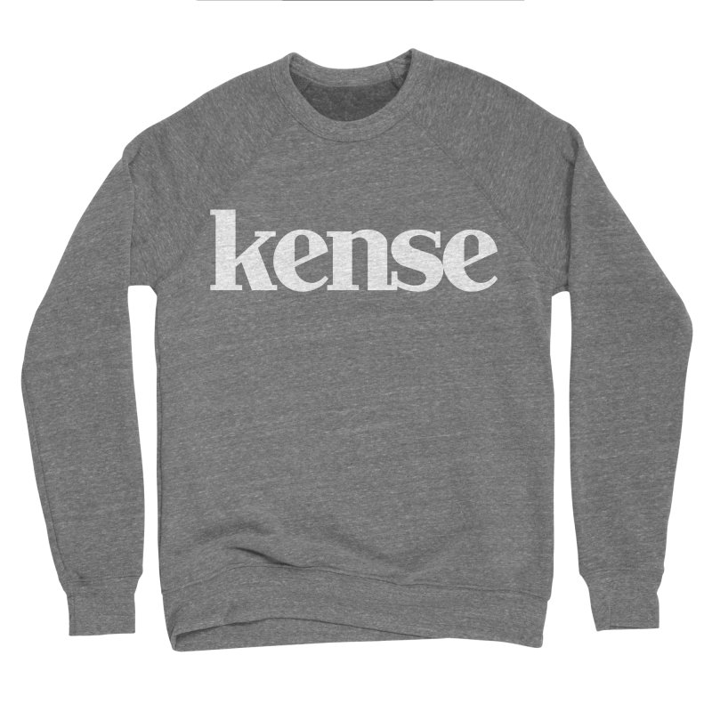 kense Original Logo (White) Men's Sponge Fleece Sweatshirt by kense's Shop