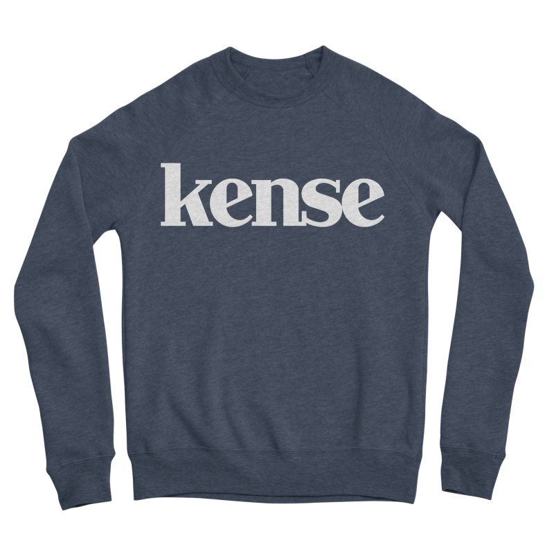 kense Original Logo (White) Women's Sponge Fleece Sweatshirt by kense's Shop