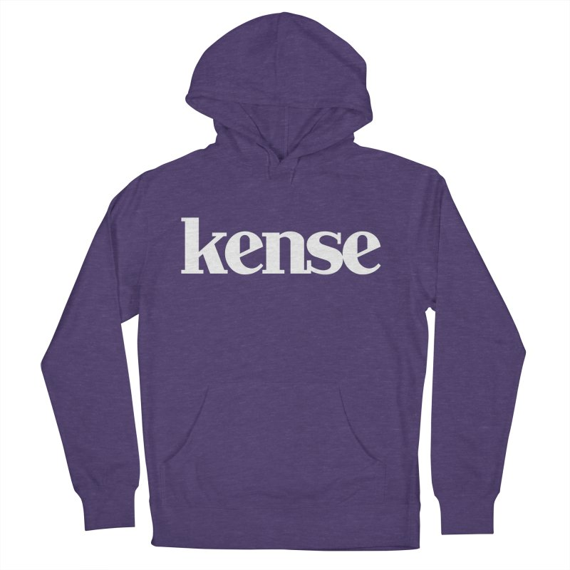 kense Original Logo (White) Women's French Terry Pullover Hoody by kense's Shop