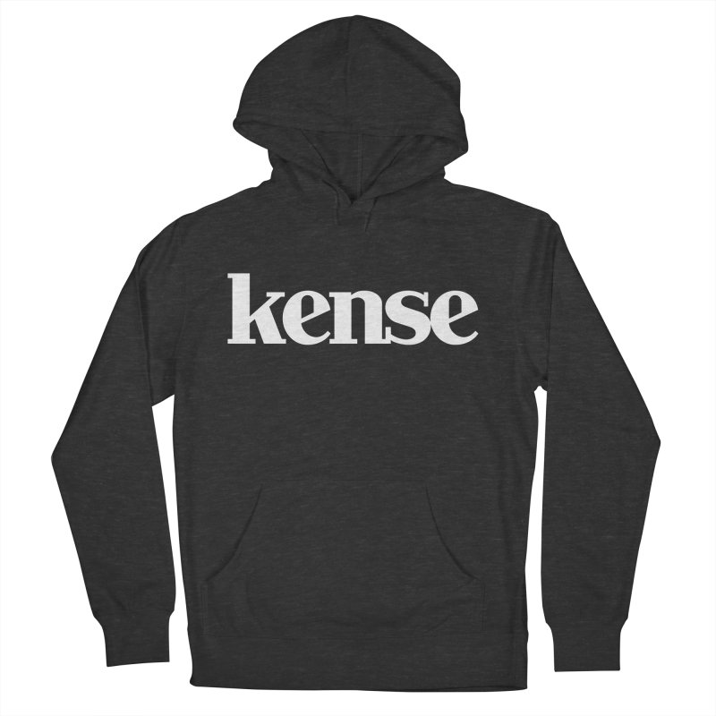 kense Original Logo (White) Men's French Terry Pullover Hoody by kense's Shop