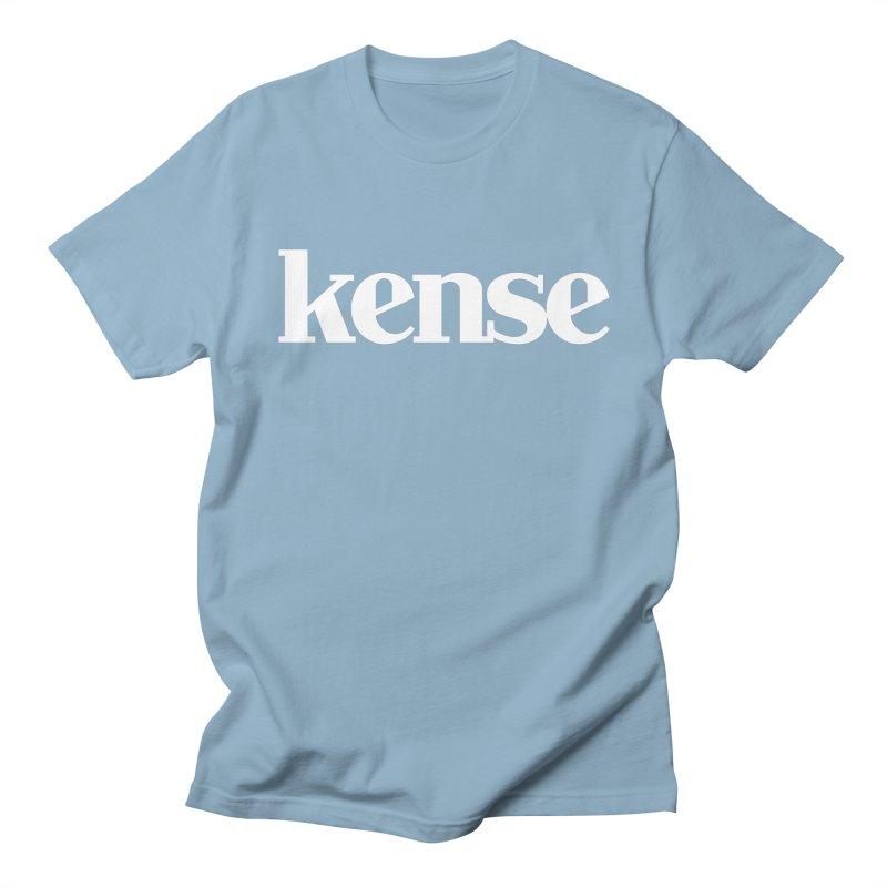 kense Original Logo (White) Women's Regular Unisex T-Shirt by kense's Shop