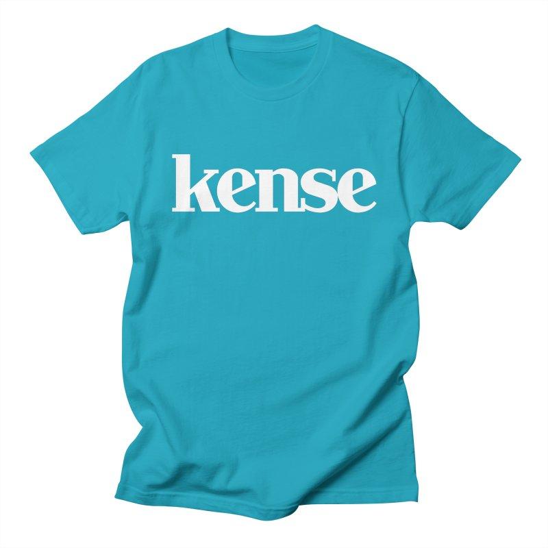 kense Original Logo (White) Men's Regular T-Shirt by kense's Shop
