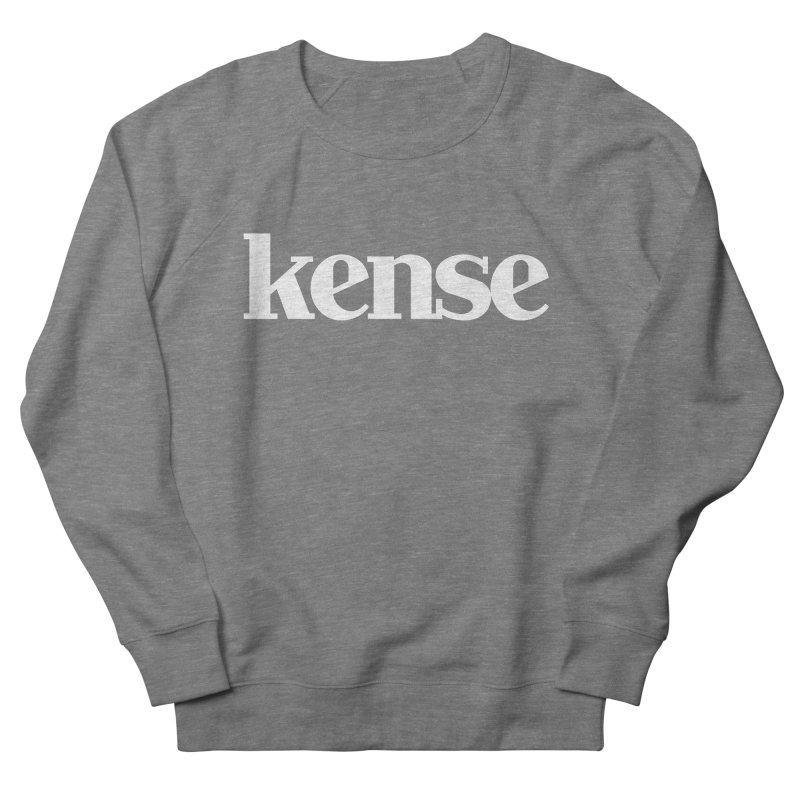 kense Original Logo (White) Women's French Terry Sweatshirt by kense's Shop
